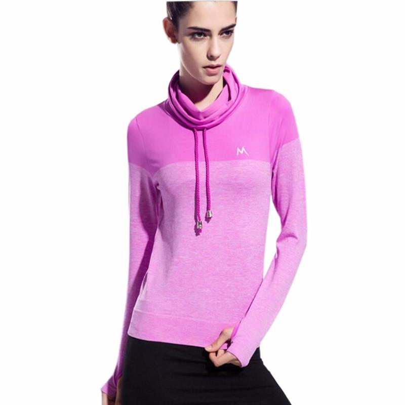 Yoga Kemeja Wanita Yoga Top Cepat Kering Wanita Kerah Tinggi Tees - Pakaian olahraga dan aksesori - Foto 2