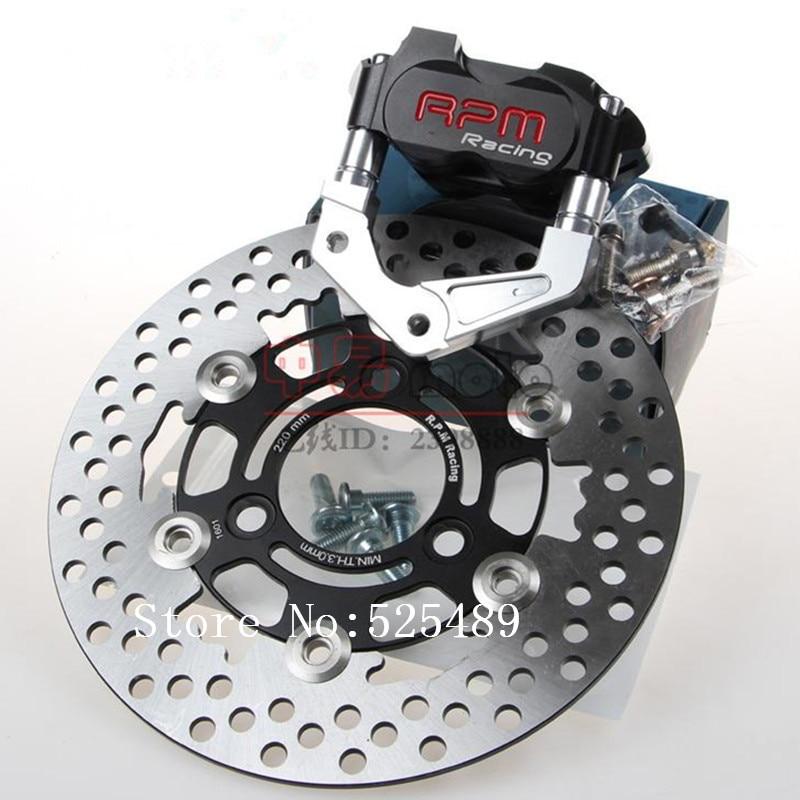For Yamaha Aerox Nitro BWS 100 JOG 50 rr RPM CNC Motorcycle Brake Caliper+Brake Pump Adapter Bracket+200mm/220mm Brake Disc Sets keoghs real adelin 260mm floating brake disc high quality for yamaha scooter cygnus modify