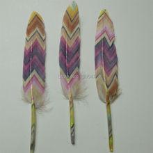 Wholesale!100PCS/lot!Printed  Duck Cochettes Wholesale Loose Feathers Art Project Decorate Costume Pen,10-15cm long