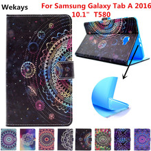 Wekays For Galaxy Tab A 10.1 Leather Stand Funda Case For Coque Samsung Galaxy Tab A 10.1 2016 T585 T580 T580N Tablet Cover Case cowboy pattern case for samsung galaxy tab a a6 10 1 2016 t580 t585 sm t580 t580n case cover funda tablet stand protective shell