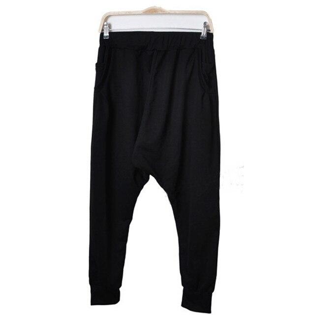 Women Dancing Hip-hop Pants Lovers Solid Cross-Pants Low Waist Loose Packets Drawstring Elastic Waist Hip Hop Men Harem Pants