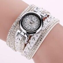 New Duoya Top Brand Fashion Luxury Rhinestone Bracelet Watch Women Quartz Watch Ladies Casual Women Vintage Casual Wristwatch