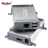 HDMI KVM Extender Over Cat Cable Extender 120m Aluminium Alloy Shell POE Function LossLESS No Delay Zero Latency KVM Extender