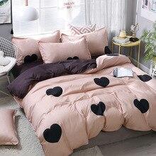 DEVO Sweet Beddingset Printed Duvet Cover Bed Sheet Pillowcase Polyester Brief Full King Queen Tiwn Beding