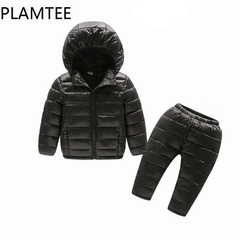 PLAMTEE Casual Children Set 2017 Solid Color Warm Boys Suits 2 PCS Zipper Pocket Girls Clothes Long Sleeves + trousers Costume aotu outdoor sleeping bag adult thermal autumn winter envelope hooded travel camping water resistant thick sleeping bag