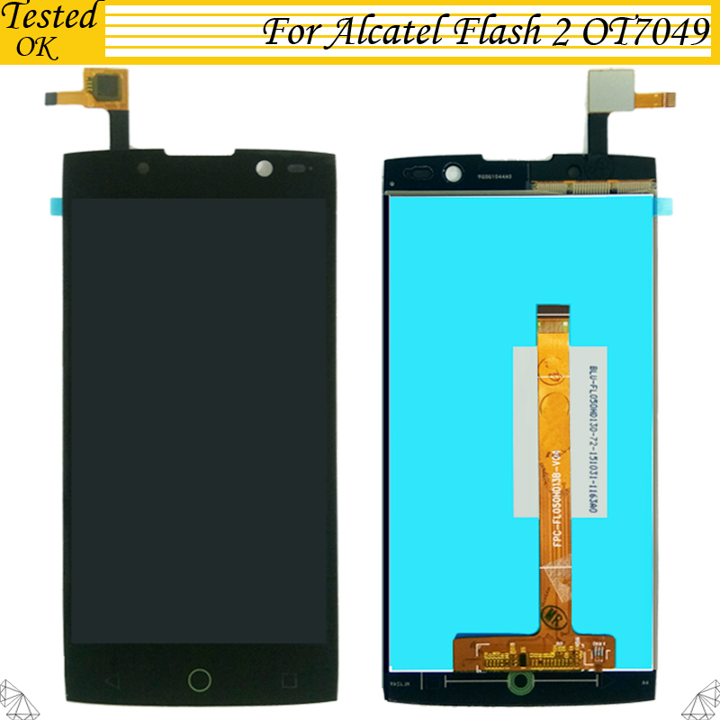 For Alcatel One Touch Flash 2 OT7049 LCD Display +Touch