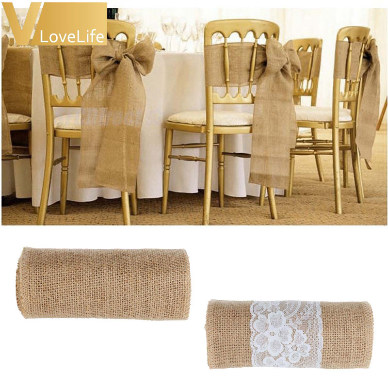 Awesome Us 28 99 35 Off 8Pcs Lot 15X240Cm Jute Burlap Ribbon Chair Covers Bow Bowknot Belt Natural Burlap Wedding Chair Sashes Wedding Chair Decoration In Pabps2019 Chair Design Images Pabps2019Com