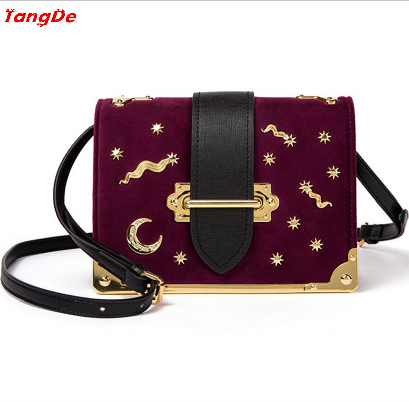 Velvet Cahier Fashion hangbag Luxury Shinny brass bronze hardware woman bag 20*14*8cm