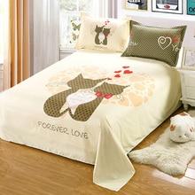 (1 unid) Venta caliente Cozy 100% sábanas Textiles Para El Hogar dormitorio 1.8 metros 1.5/1.6 metros de no incluye almohadas