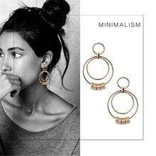 Comiya Lovely Accessories Zinc Alloy Oorbellen Voor Vrouwen Gold Color Circles Tassels Earrings For Women Boucle d