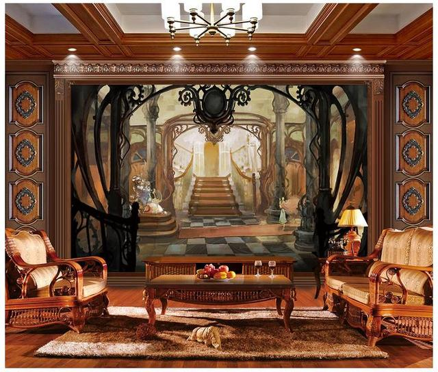 Us 28 2 Custom 3d Wallpaper For Walls 3 D Wall Murals Wallpaper Anime Tv Setting Wall Painting Porch Of Castle 3d Living Room Home Decor In
