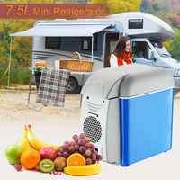 7.5L Mini Draagbare Auto Koelkast Vriezer Cooler & Warmer Koelbox Voor Auto Kantoor Outdoor Picknick Camping Reizen Auto Koelkast