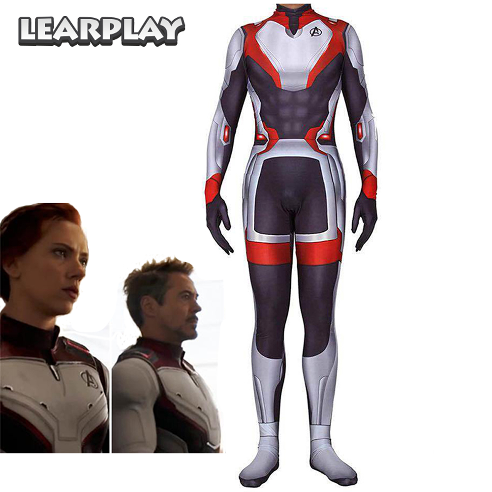 Endgame Cosplay Costume Superhero Quantum Realm Suits Jumpsuits Men Women Zentai Bodysuit For Adults Kids Halloween Party Outfit