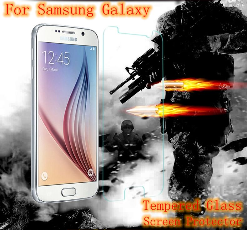 9H Tempered Glass Screen Protector Protective Film Case For Samsung Galaxy J1 Ace J2 J3 J5 J7 2016 J100F J110H J500 J310F J510F