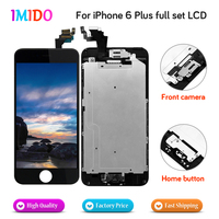 Made in China Full Set LCD For iPhone 6 plus LCD Display Home button+Front camera touch screen digitizer assembly replacement