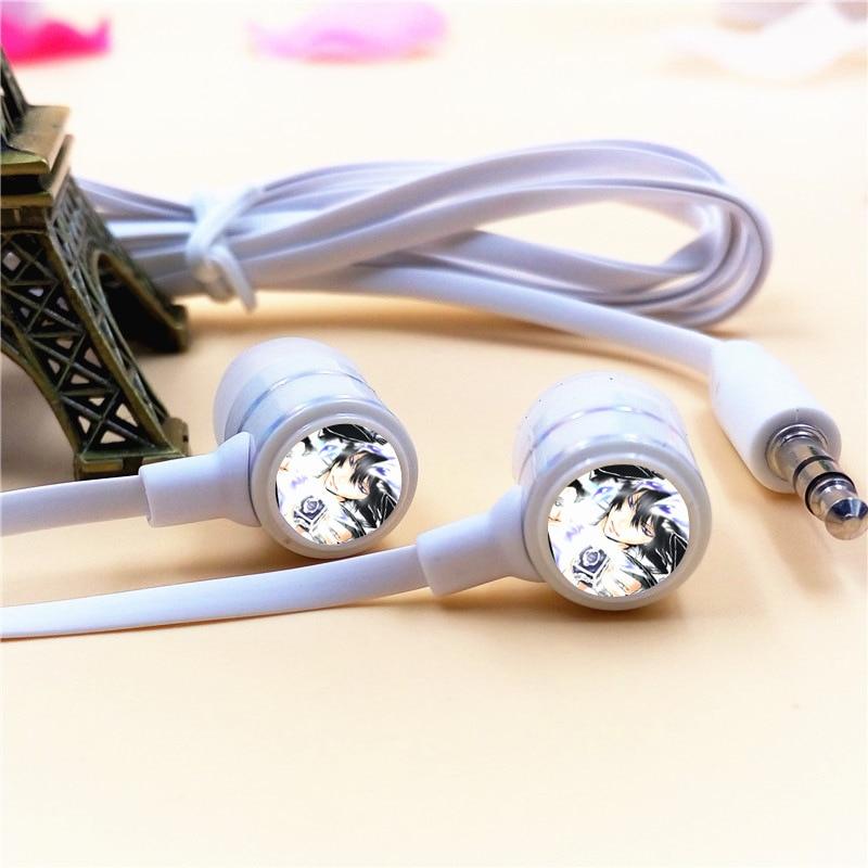 Anime HITMAN REBORN Hibari Kyoya In-ear Earphones 3.5mm Wired Stereo Earbuds Phone Music Game Headset for Iphone Samsung MP3 MP4