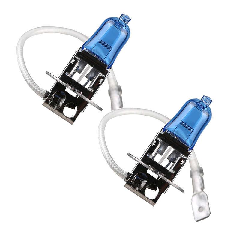 2 pçs farol do carro h1 h3 h4 h7 xenon super lâmpada branca super carro auto cabeça luz halogéneo lâmpadas 55 w 100 12 v 5000 k luzes de nevoeiro