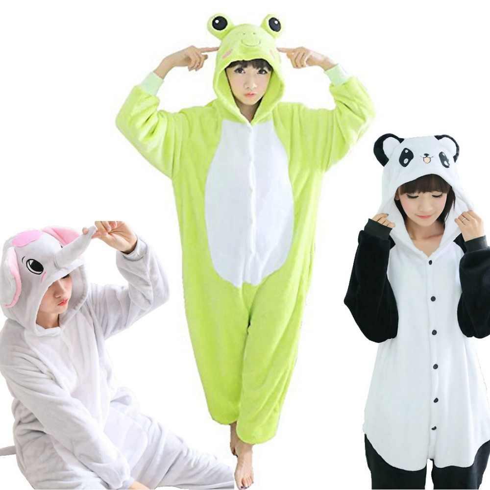 6be4d4b127d79 Зимние Покемон Пикачу панда стежка слон Единорог Косплэй Хеллоуин костюм  для Для женщин животных рождественские пижамы