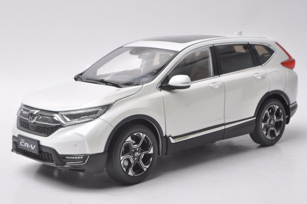 1:18 Diecast Model for Honda CR-V 2017 White SUV Alloy Toy Car Miniature Collection Gifts CRV CR V 1 18 diecast model for honda crider 2016 white sedan alloy toy car miniature collection gifts crv cr v