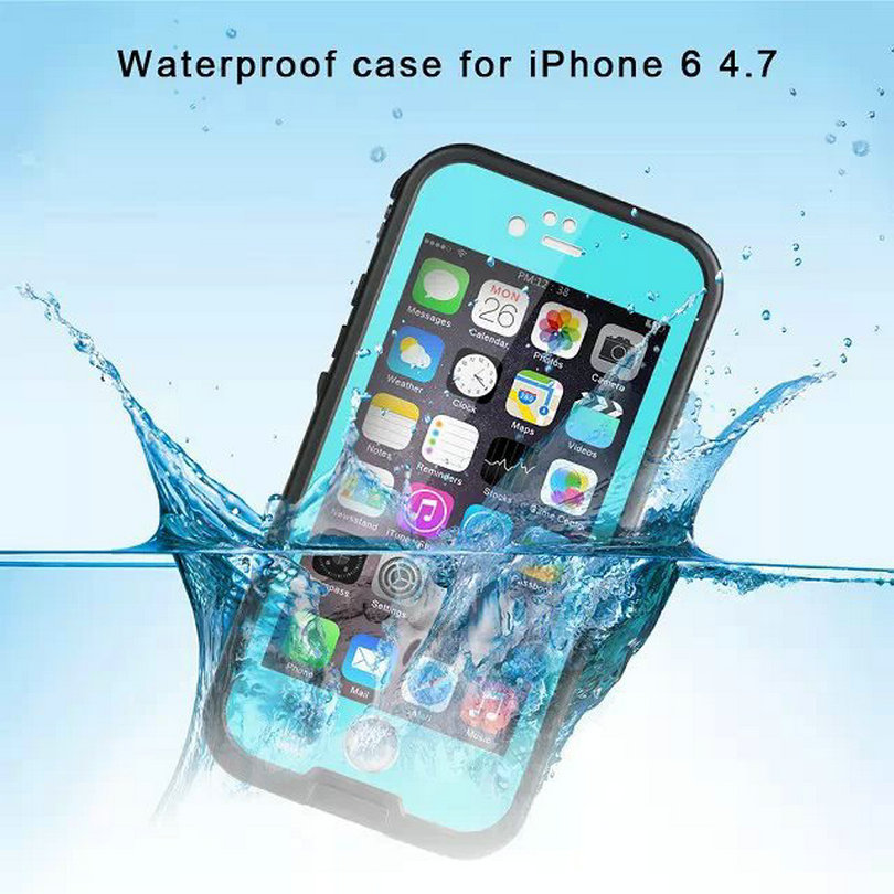 "imágenes para Para el iphone 6 6 S Redpepper Funda Impermeable Cubierta Impermeable de Buceo Bajo El Agua Para el iphone 6 6 S 4.7 ""Cubierta dura de la PC + TPU Híbrido Armor"