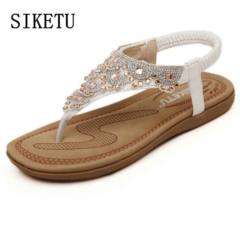 e6ef13c660d03a SIKETU Summer new sweet woman fashion diamond sandals women Bohemia sandals  toe beach sandals casual comfortable