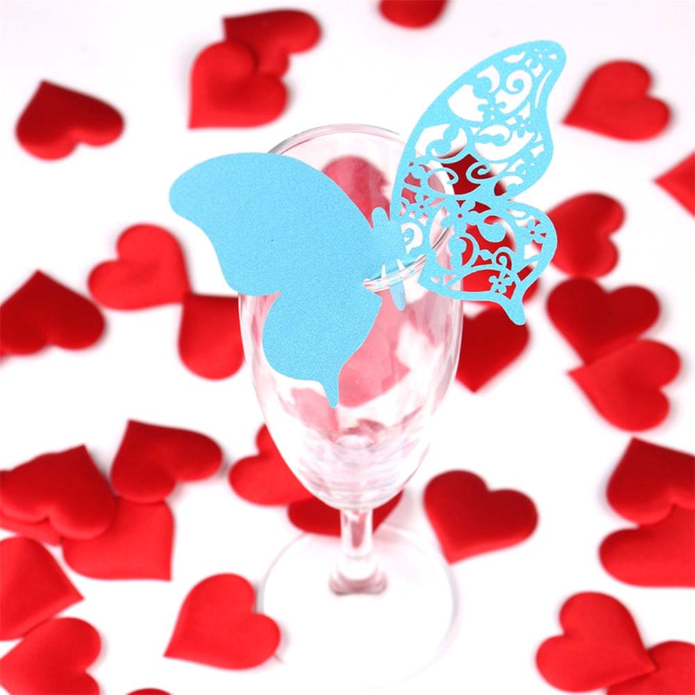 20PCS Härlig Butterfly Vinglas Cup Papper Kort För Bröllopsfest / - Semester och fester