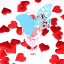 20PCS 사랑스러운 나비 와인 유리 컵 종이 카드 결혼식 파티 / 에스코트 카드 / 홈 장식 이름 장소 카드 테이블 장식