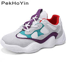 Купить с кэшбэком Autumn Thick Sole Women Flats Shoes Brand Fashion Sneakers Footwear Female Walking Shoes Zapatos Mujer Rubber Casual Shoes Women