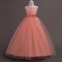 цена на Foreign trade the lace hollow out formal attire princess costume girls dress