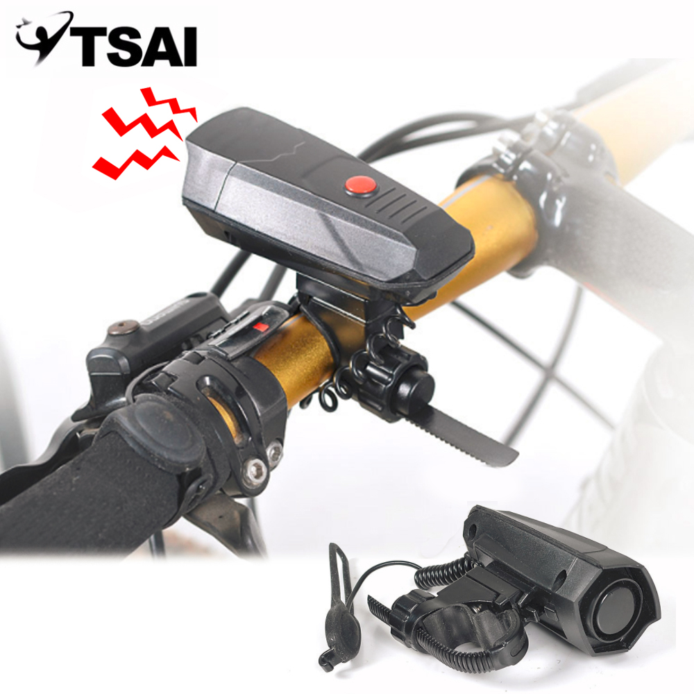 TSAI Strong Loud Sound Electronic Bicycle Bell Horn Bike Handlebar Ring Bell Safety Cycling Bike Air Alarm