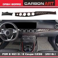 Real Carbon W213 dashboard trim New E Class W213 E Coupe Dashboard Trim Console Panel Cover Panel for Mercedes E200 E300 E400