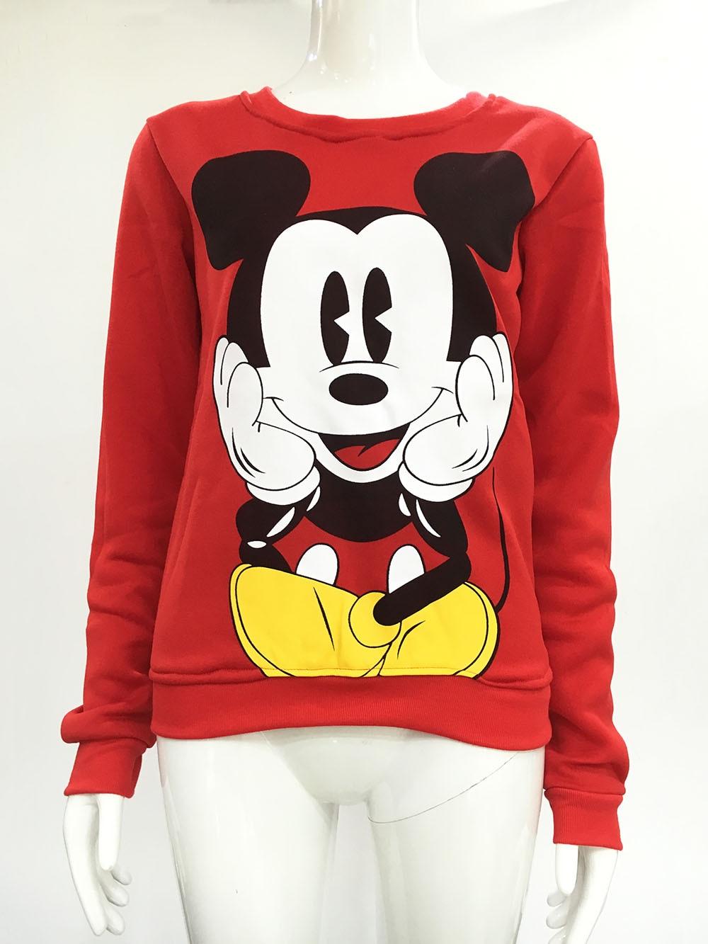 2016 moda nuevo europeo Mickey impresión sudadera con capucha de - Ropa de mujer - foto 4