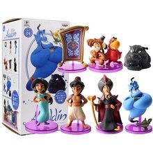 Princes sjasmine figura brinquedo mal macaco tigre aladdin e sua lâmpada pvc figura de ação modelo brinquedo bonecas