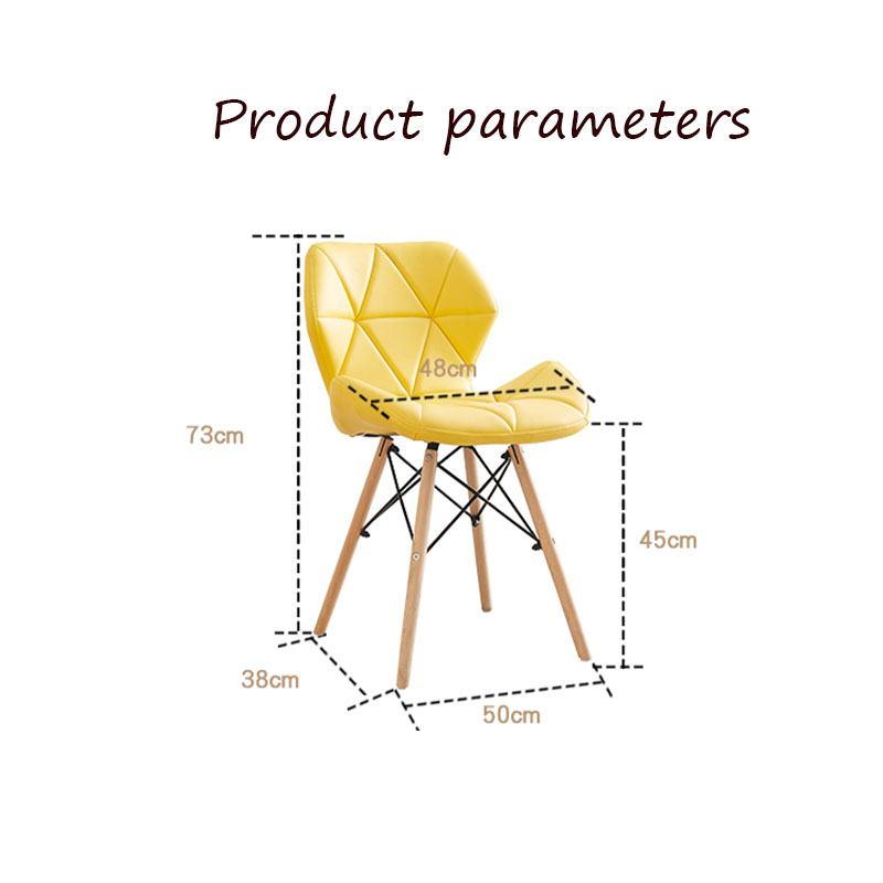 Image 5 - Nordic INS Restaurant Furniture Chair Dining Room Modern Pu China Iron Chair Wood Kitchen Dining Chairs for Dining Rooms Sofa-in Dining Chairs from Furniture