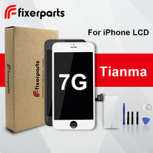 1 pçs tianma lcd para iphone 7 display touch screen substituição digitador assembléia completa para iphone 7 lcd com dom gratuito