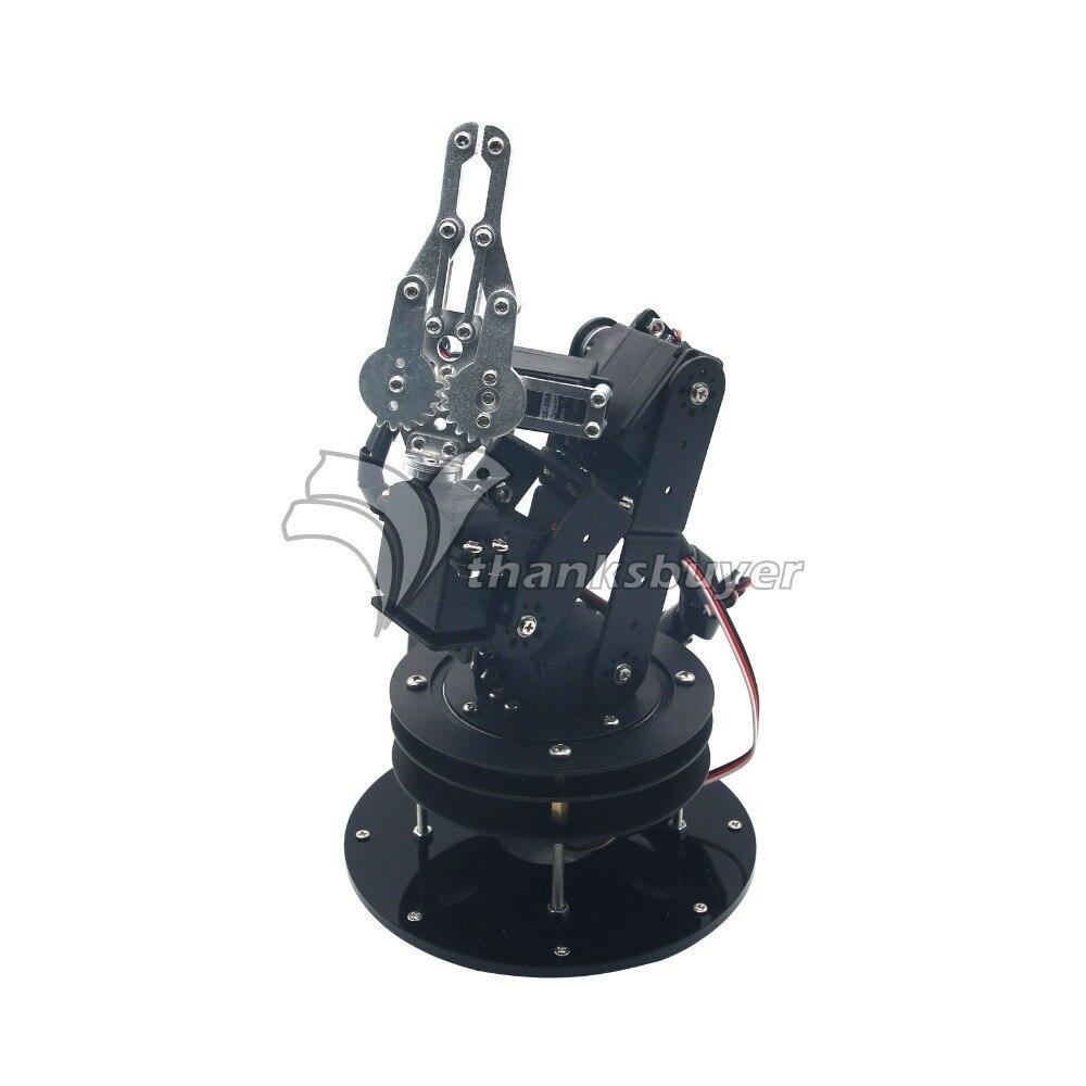 Alliage De métal 6DOF Robot Bras Pince Claw & Support Pivotant Kit de Montage avec 6 pièces MG996R Servos et Servo Hron