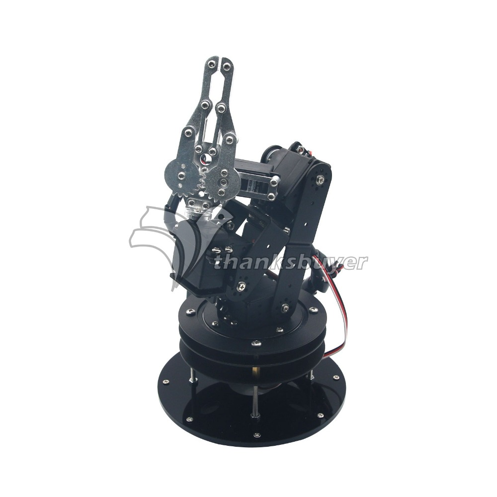 Metal Alloy 6DOF Robot Arm Clamp Claw & Swivel Stand Mount Kit with 6pcs MG996R Servos and Servo Hron крепление поворотное sp gadgets swivel arm mount для gopro 53060