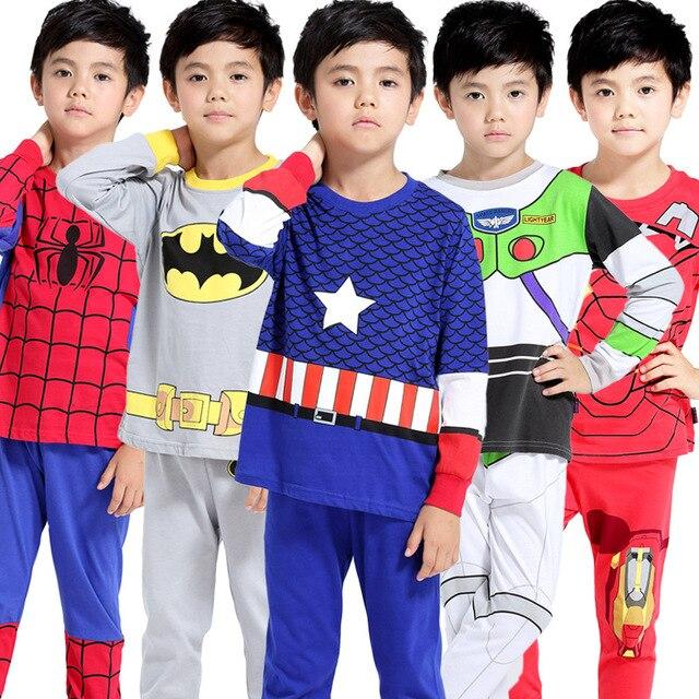 בני בגדי שנאי בגדי ילדים סט 2-6 Yrs פיג 'מה סט קפטן אמריקה KidsBoys אביב בגדי ילדים למעלה ארוך שרוול