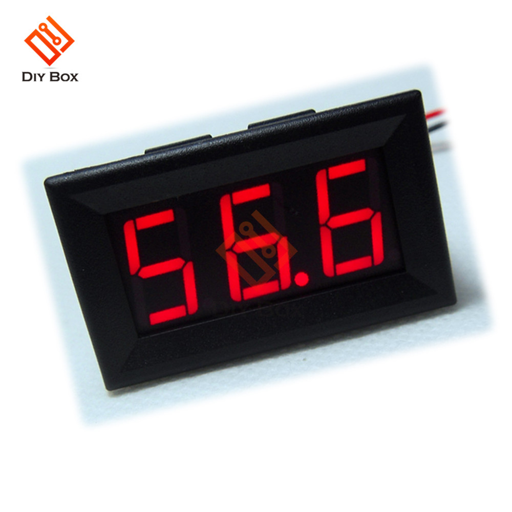 4 Bit 5 Wires Dc 0 200v 10a Meter Digital Voltage In Panel From Home Wire Generator To 3 220v Receptacle Wiring 12v Red Color Display Led Voltmeter Monitor Tester Gague For