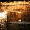 Conectável 5 M cortina de led luzes da corda do sincelo luzes led luzes de fadas lâmpadas Sincelo Luzes Wedding Party Xmas Decoração de Natal