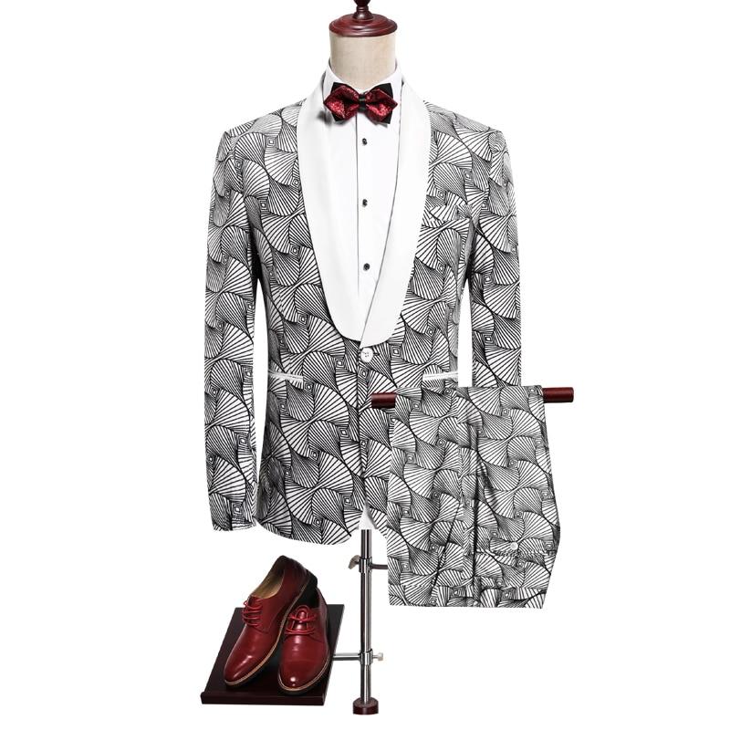 2019 New Pattern Wedding Suits For Men Plus Size 3xl Mens Suits With Pants Good Quality Men Business Suit