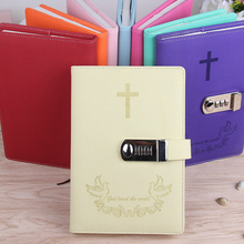 A5 Password Lock Notebook Faux Leather Personal Diary Memos Agenda Planner Organizer Composition Travel Journal Office