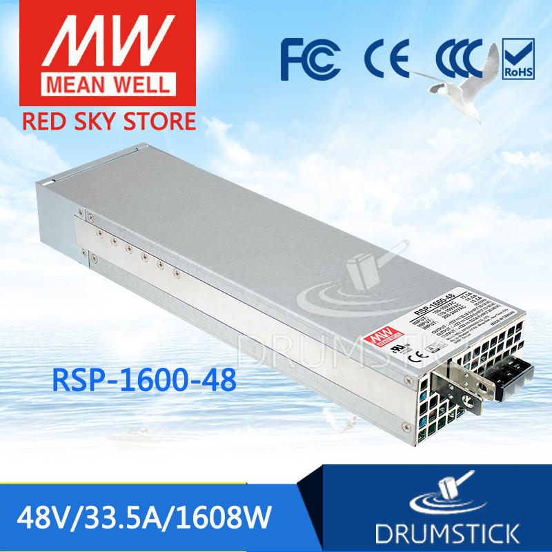 leading products MEAN WELL Original Taiwan meanwell PFC adjustable voltage can be parallel power RSP-1600-48 1600W 48V 33.5A original mean well rsp 2400 12 2000w 160a 12v voltage trimmable meanwell power supply 12v 2000w with pfc in parallel connection
