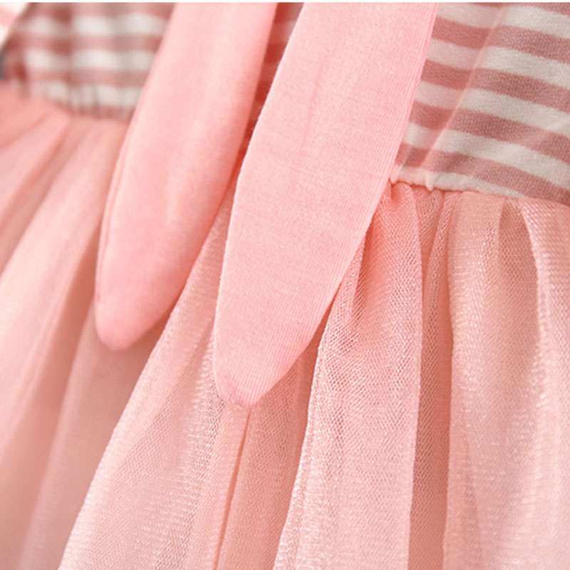 2017 Autumn Baby Girls Dresses Princess Vestidos Infant Girls Long Sleeve Striped Net yarn Dress