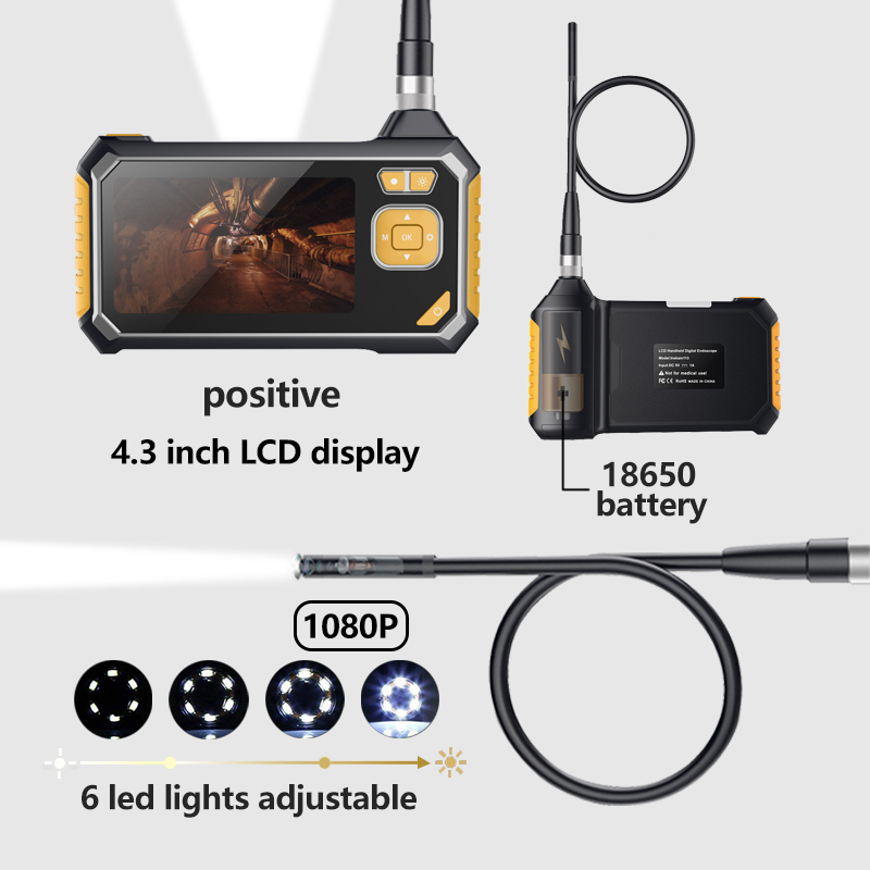 Image 4 - Antscope 1080P HD 8mm Industrial Endoscope 4.3 Inch Auto Repair Inspection Camera Endoscope Lithium Battery Snake Hard Camera 19-in Surveillance Cameras from Security & Protection
