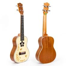 Kmise Professional 23 Inch Concert Ukulele Uke Mini Hawaii Guitar Spruce Mahogany 18 Fret kmise concert ukulele solid spruce ukelele 23 inch 18 fret uke 4 string acoustic hawaii guitar with gig bag
