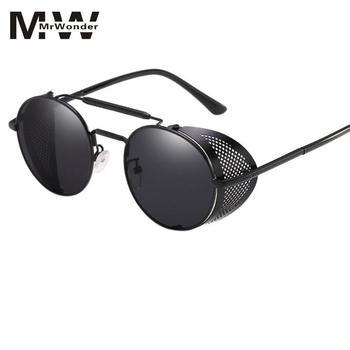 25efe61f25 Gafas De Sol Steampunk para mujer, gafas redondas, gafas para hombre, Visor  lateral, lente circular, estilo Retro Unisex, óculos Punk De Sol L0