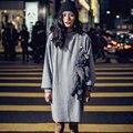 Abner 2017 Street Fashion Solto Estéreo Franja Kintted Batwing Manga Plus Size Longo Listrado Pullovers Do Hoodie Das Mulheres O-veck