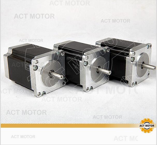 ACT Motor 3PCS Nema23 Stepper Motor 23HS8630 Single Shaft 6-Lead 270oz-in 76mm 3A CE ISO ROHS CNC Router Foam Engraving Machine free ship 3pcs dual shaft nema 23 stepper motor 1 89n m 268oz in 76mm 3a direct selling