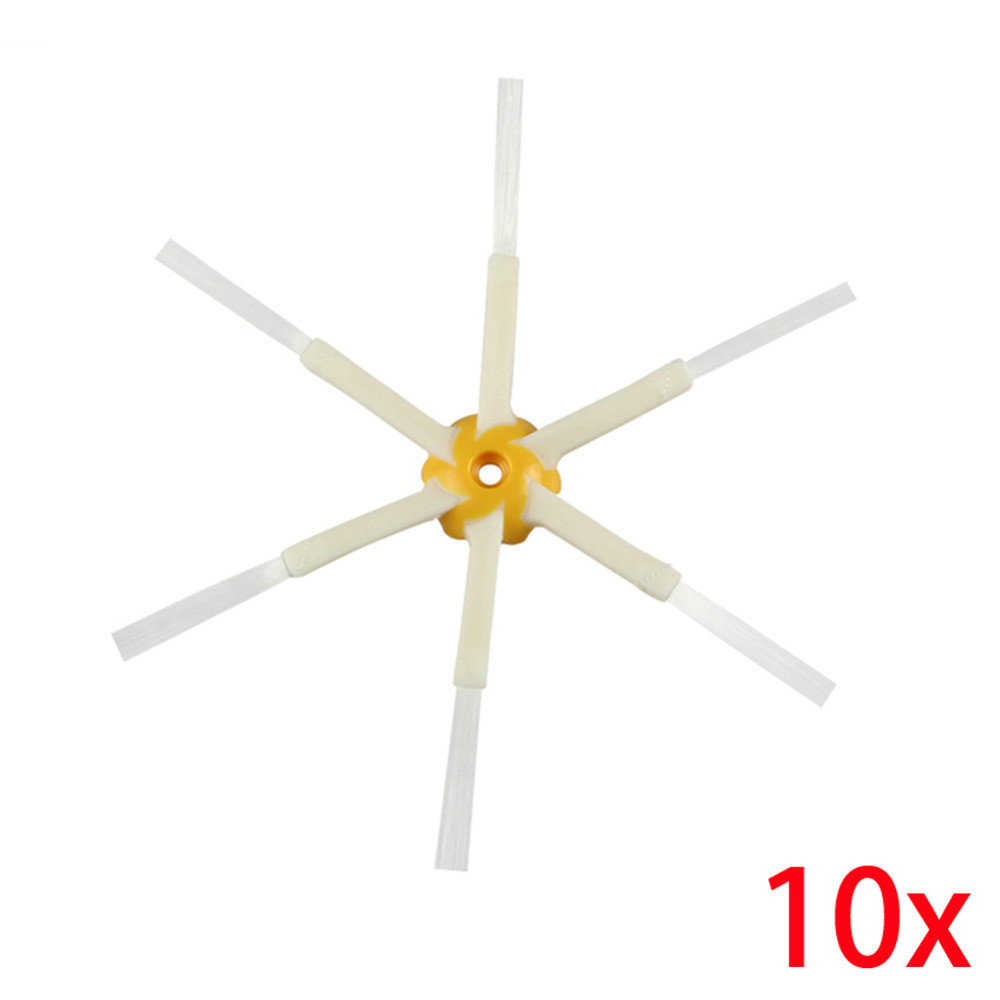 Free Post 10 Piece Replacement 6-armed Side Brushes For iRobot Roomba 500 560 600 610 700 780 All Series 6 Arms Side Brush